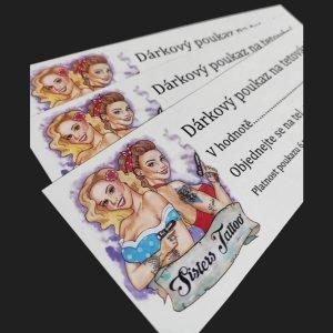 Sisters Tattoo Brno tetovací salon studio Černovice Nejlepší tetovací salon, studio v Brně dotwork, newschool, abstract a skica dárkový voucher poukaz