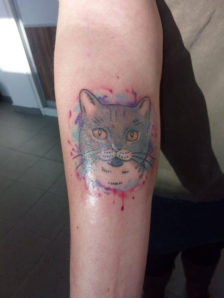 tetovací salon Brno dotwork newschool abstract skica