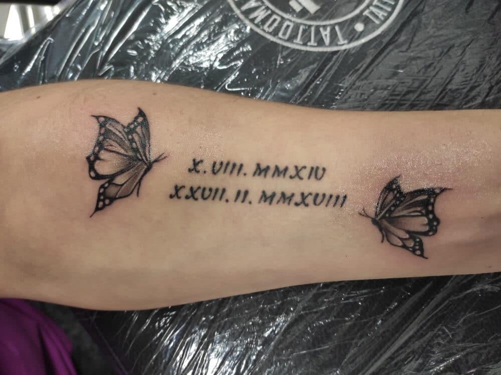 motýlek tetování
