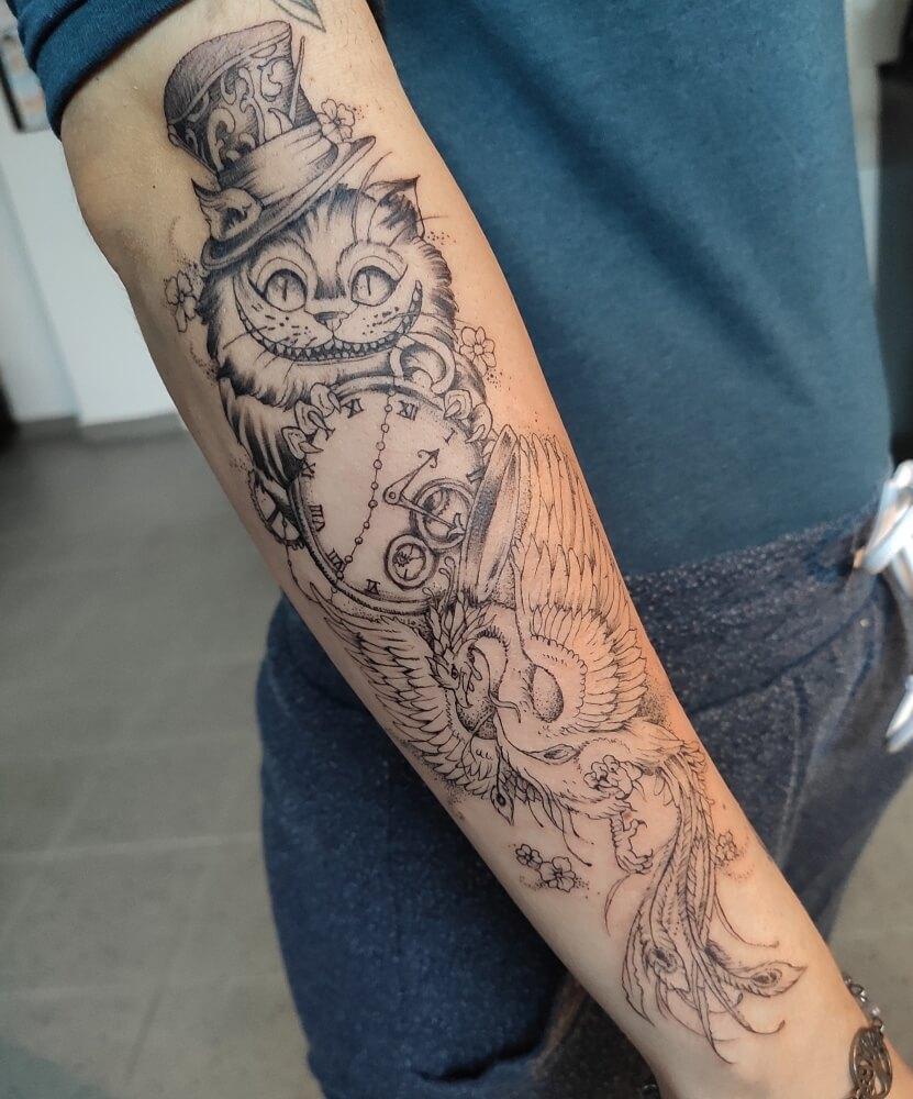 tetovací salon Brno sova tetování